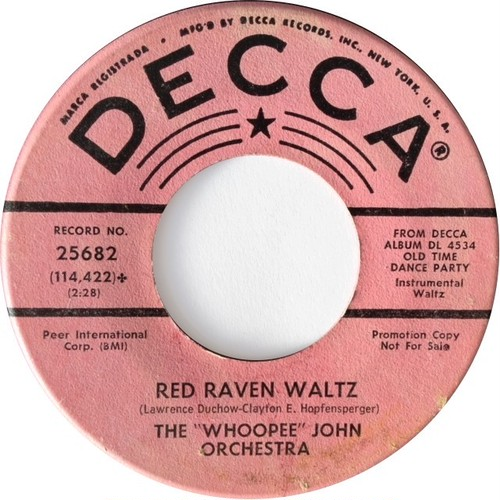 """Whoopee"" John Orchestra, ‎The – Red Raven Waltz / Ping Pong Polka"
