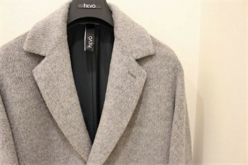 hevo Chesterfield Coat Gray Mohair