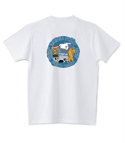 販売終了いたしました!2021春のハワイ企画 限定デザイン! No.005 ワイメアモンスターウエーブ!なんとマグカップ or トートバッグ&缶バッジ付き! 5.6ozTシャツ 3/31まで