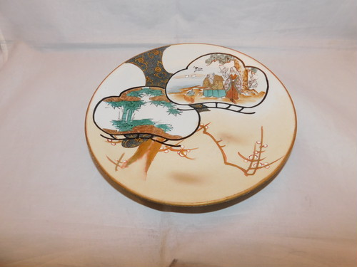 九谷色絵七寸皿 Kutanii collard porcelain one plate