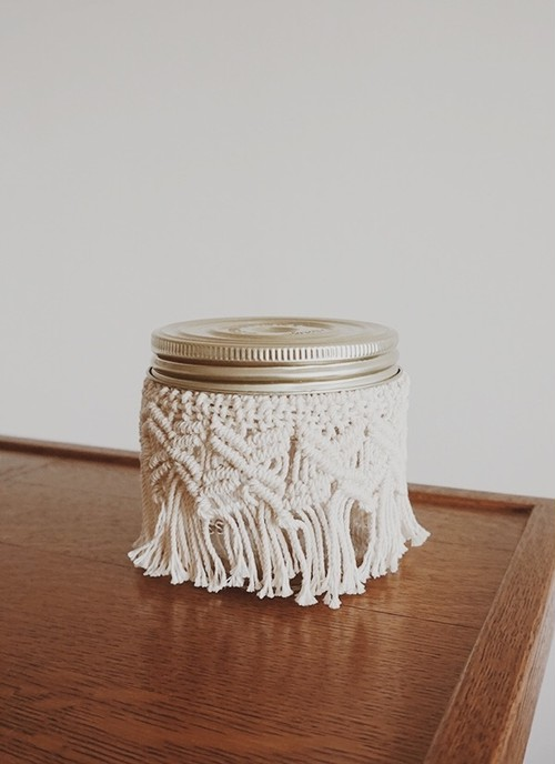 TORCH - Stunning Macrame Jar/Short