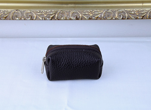 Cellerini by Tie Your Tie Leather Pouch -Brown チェリーニ レザーポーチ