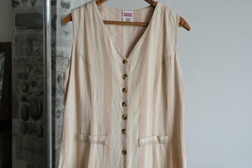 90's gauzy button up jumper Dress