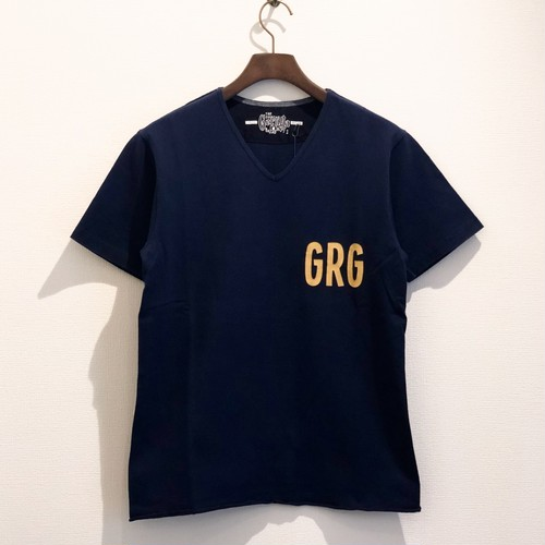 HEAVEY DUTY V-NECK T-S (NAVY) / GERUGA