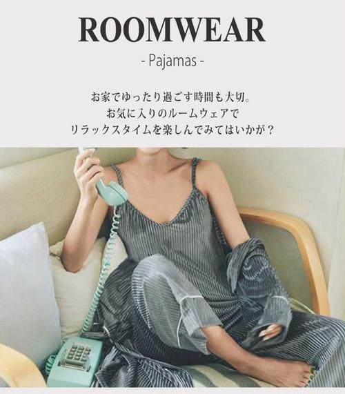 【♥即納】ガウン付きリブルームウエア  roomwear094