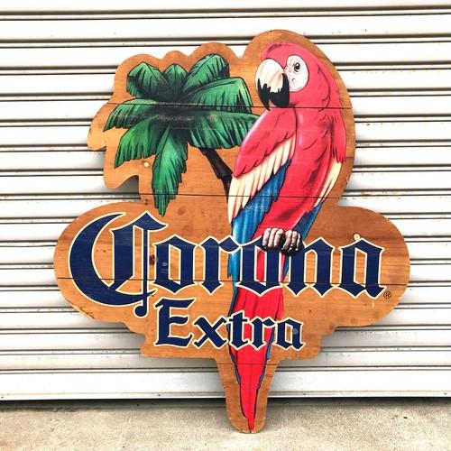 品番5948 CORONA コロナビール オウム サインボート 木製ボード 看板 ヴィンテージ 011