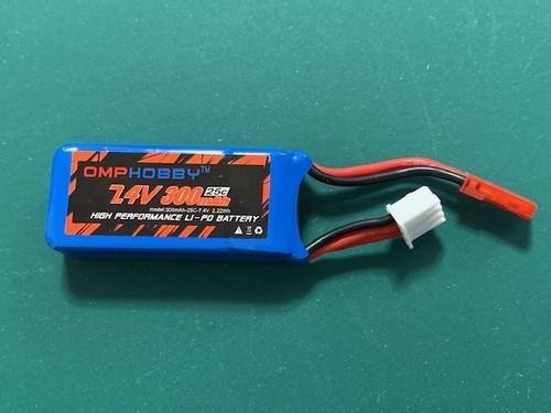 新タイプ◆S720用 7.4V300mAh専用リポバッテリー、 ネオヘリでS720ご購入者のみ