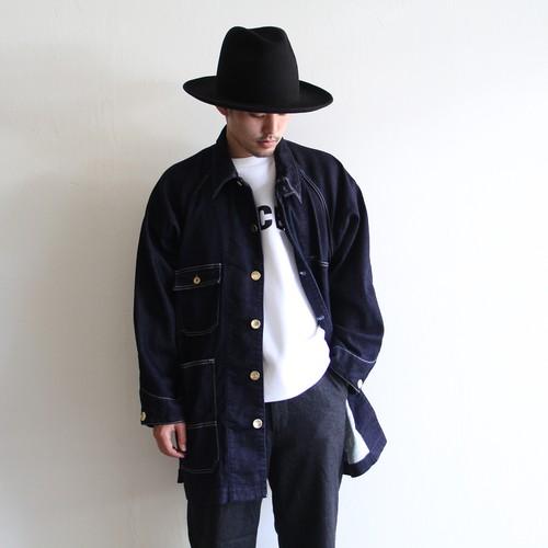 H.UNIT【 mens 】knit denim work jacket