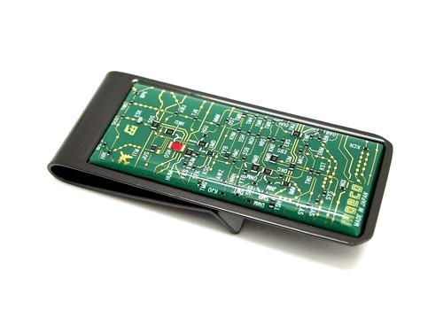 関西回路線図 マネークリップ 緑【回路線図ステッカー4種セットプレゼント】