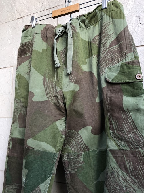 1950s Belgium military camouflage over trousers