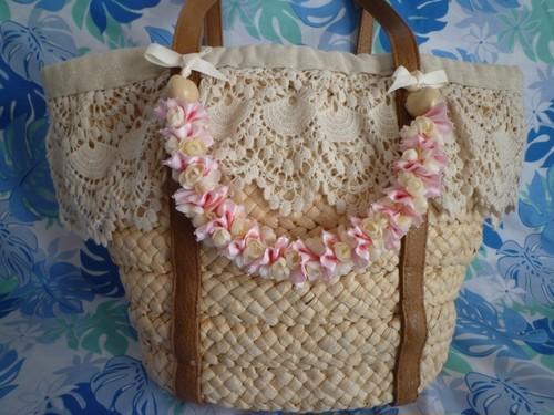 ハワイアンリボンレイ(レシピなし)【ピカケいっぱいのバッグチャーム】 キット