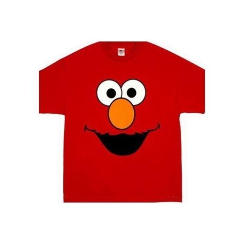 エルモ Elmo フェイス/顔 セサミストリート プリント Tシャツ