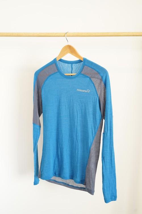 【OGZ USED】NORRONA bitihorn wool Shirt / サイズ: S / 色: Hot Sapphire ノローナ