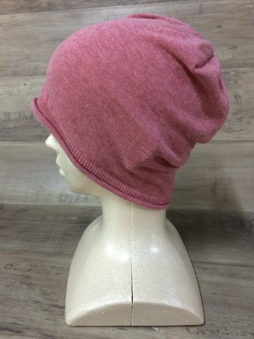 【送料無料】こころが軽くなるニット帽子amuamu 新潟の老舗ニットメーカーが考案した抗がん治療中の脱毛ストレスを軽減する機能性と豊富なデザイン NB-6058 フランボワーズ <オーガニックコットン アウター>