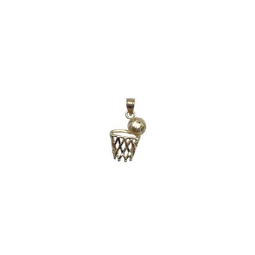 【14K-3-5】14K real gold Basket Ball charm