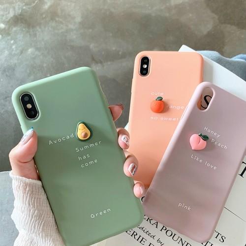 【小物】アボカドオレンジiphoneX/XS/XR/XsMaxiphone7/8/7p/8plus6/6sスマホケース