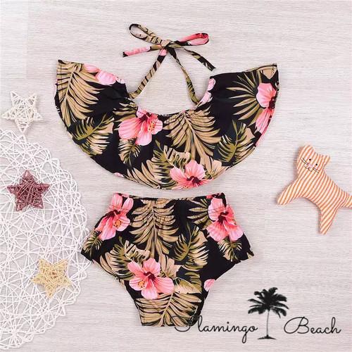 【FlamingoBeach】キッズ オフショルダー ビキニ