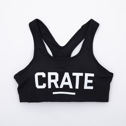 CRATE GYM BRA TOP Black