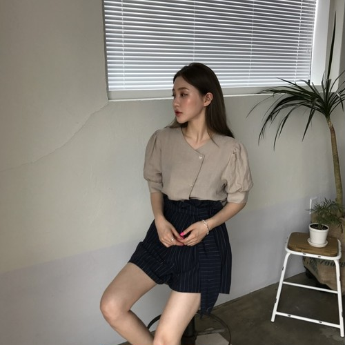 ♡retro girly puff sleeve blouse 2637