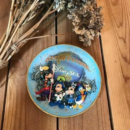 希少レアTDS東京ディズニーシーグランドオープン開園記念フィギュアリンプレート立体3Dデコ飾り皿Disneyオープニング置物オブジェ*ミッキー