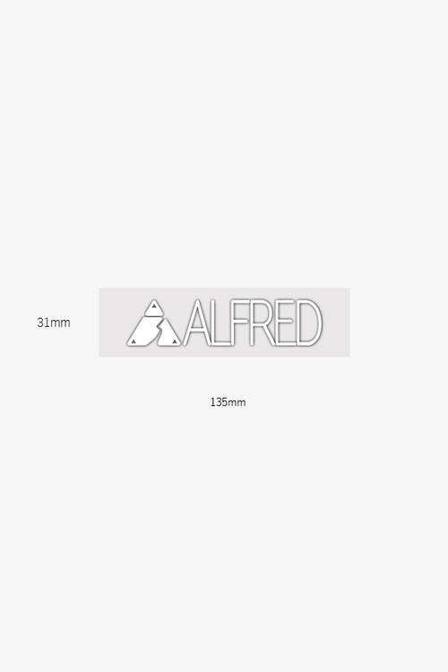 ALFRED CUTTING STICKER White Matte
