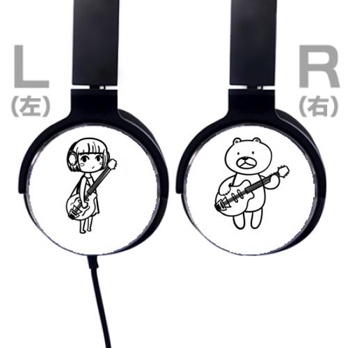 デザインヘッドフォン女の子くまちゃん