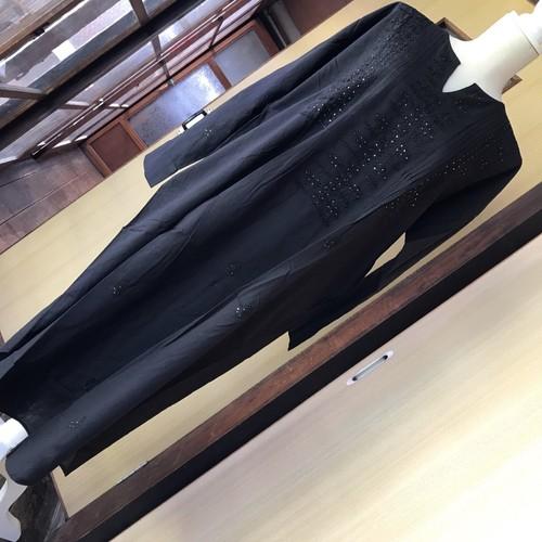 マライカ コットンムケシュラクノウ刺繍ワンピース ブラック