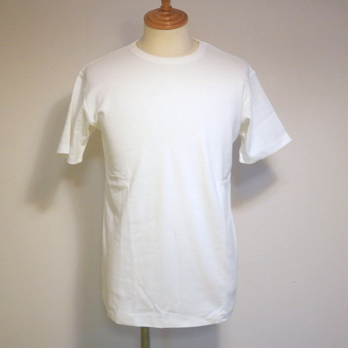 High Tension Circular Rib Crew Neck TEE White