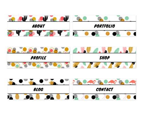 全6種類|夏がテーマのトロピカルでポップなヘッダーテンプレート