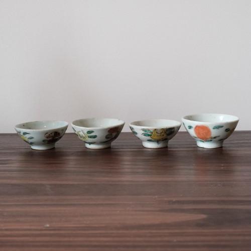 中国 花文様杯