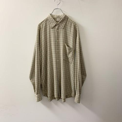 PRONTO UOMO チェックシャツ コットン/レーヨン size L イタリア製 メンズ 古着