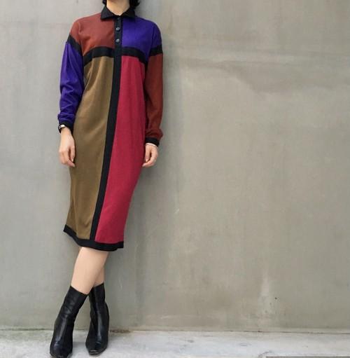 DIANE von FURSTENBERG Mondrian pattern dress