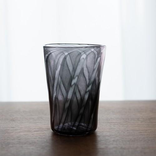 モールド×パウダ-×ケインを使ったグラス(黒)