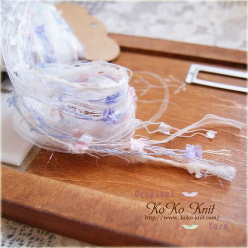 再販 §koko§ 引き揃え糸カード ~紫陽花の花束~ オリジナル糸、リボン、ラッピング レース タッセル