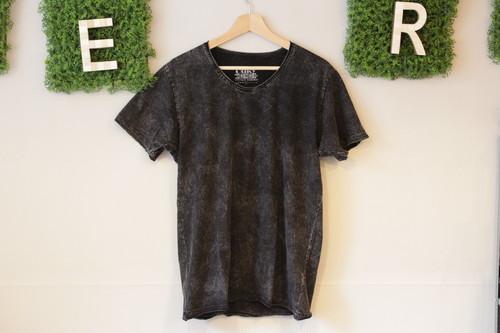 Ouky ヴィンテージウォッシュTシャツ(ブラック)