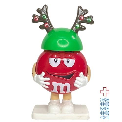 M&M's ミニディスペンサー フィギュア レッド トナカイ ツノ クリスマス