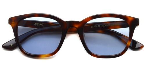 ZAPPA02【b】  (Havana Brown- Light Blue lenses)  / A.D.S.R.