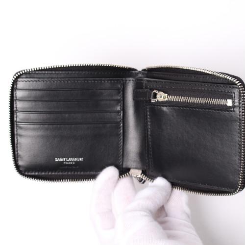 サンローラン二つ折りメンズ財布