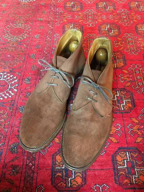 .Tricker's SUEDE LEATHER CHUKKA BOOTS MADE IN ENGLAND/トリッカーズスウェードレザーチャッカブーツ 2000000046341