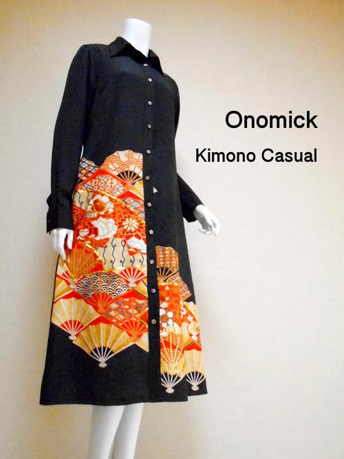 着物ロングシャツ Kimono Long Shirt LO-192/M
