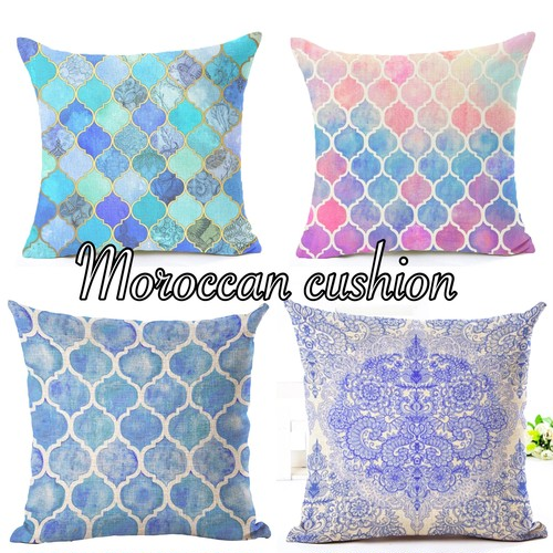 Moroccan tile cushion cover