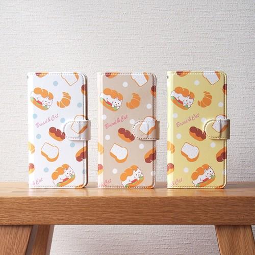 猫サンドの手帳型スマホケース
