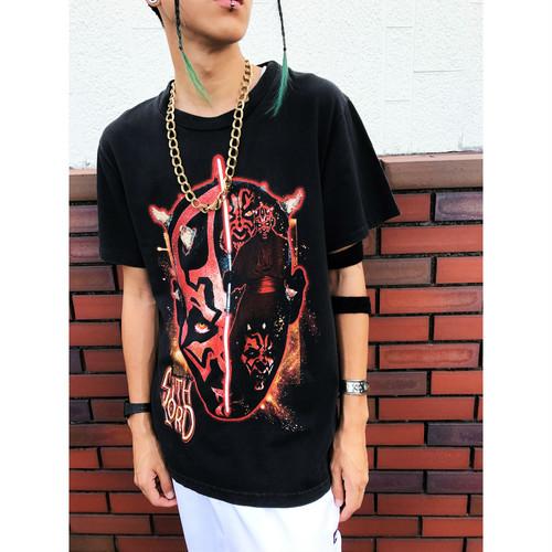 ✝MADE IN USA✝90s vintage Star Wars スターウォーズ ダースモールプリントTシャツ  sizeM 黒 ブラック
