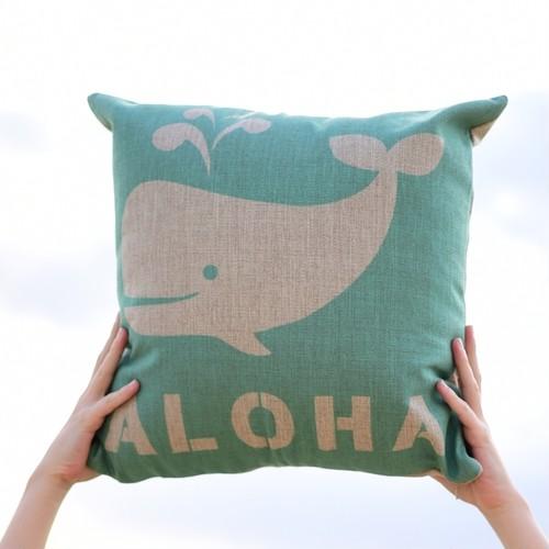 クッションカバー Aloha Whale Pillow Case