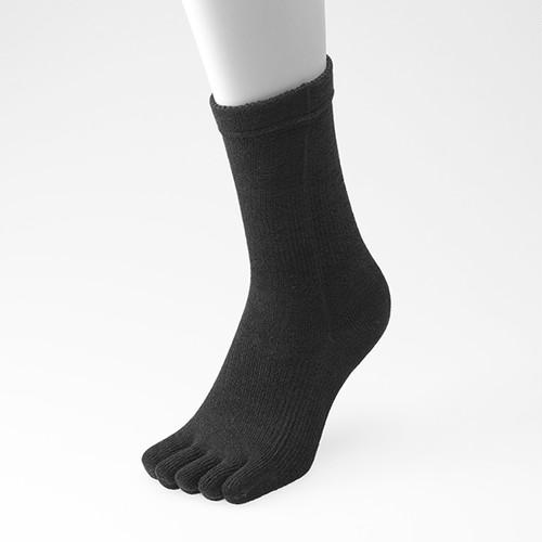 5本指 ゆびのばソックス ゆびのばレギュラー ブラック 男性用 25.0cm-27.5cm YSNRG5-BLK