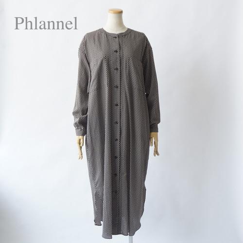 Phlannel/フランネル・Cotton Silk Viyella Shirt Dress