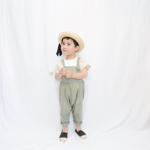 Twill overalls olive M