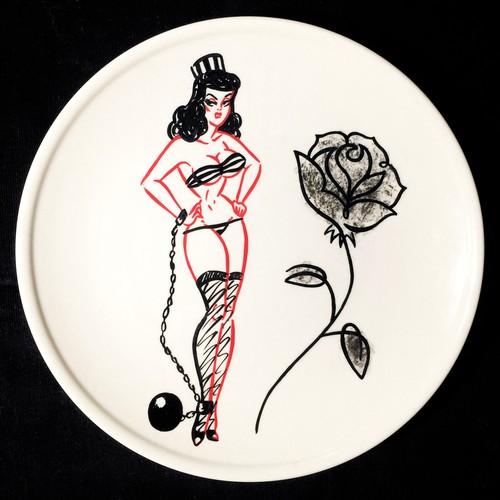 """Black Rose"" plate (予約商品)"
