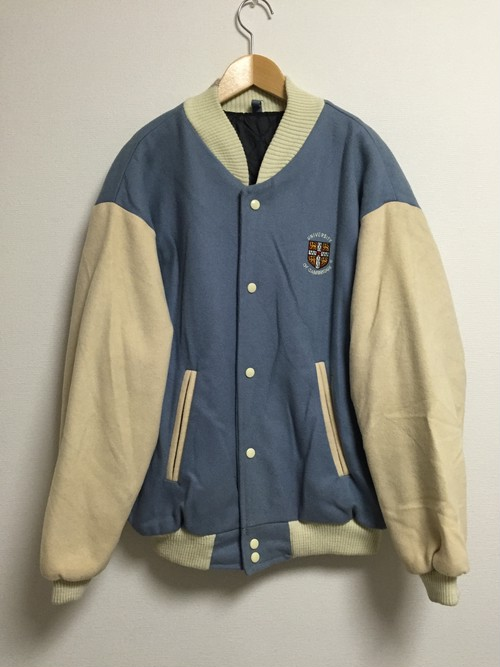 80's CAMBRIDGE varsity wool jacket