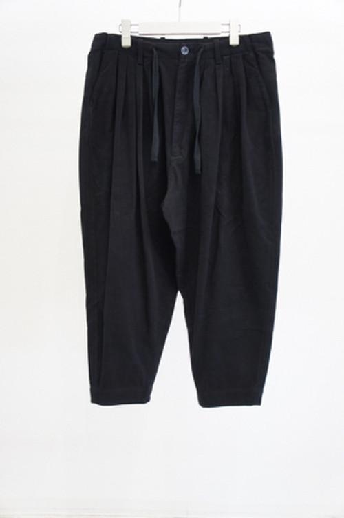 5Tuck Tapered Trousers -BLACK- / YOKO SAKAMOTO